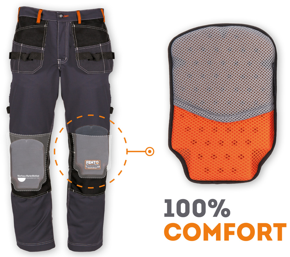 Fento 100 - The knee pad without straps for use in work trousers